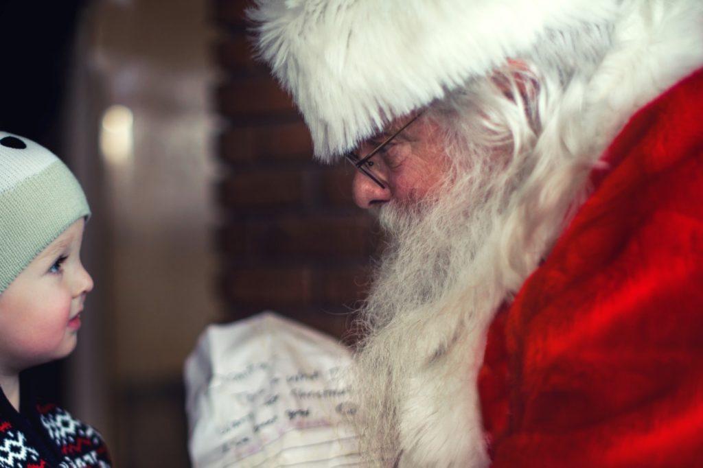 Santa at the Llandudno Christmas Fayre 2017